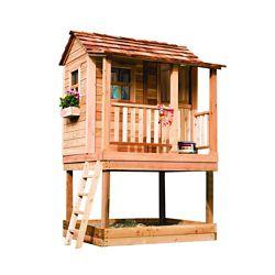 Outdoor Living Today Petite maisonnette en cèdre avec carré sable - (6 Pi. X 6 Pi.)