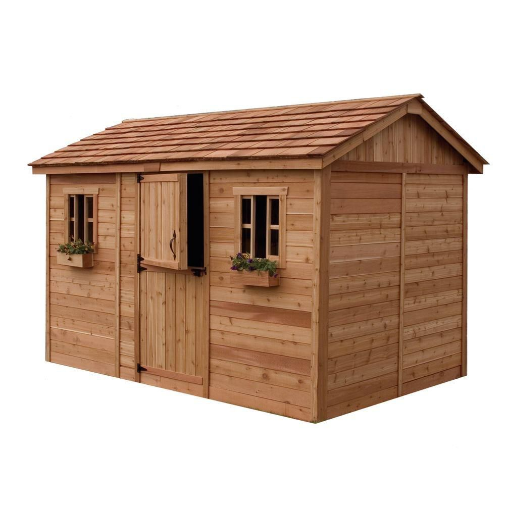 Outdoor Living Today Cabana Garden Shed 12 Ft X 8 Ft