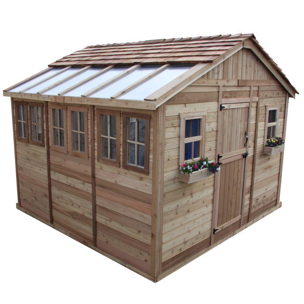 outdoor living today remise de jardin sunshed 12 pi x 12 pi home depot canada. Black Bedroom Furniture Sets. Home Design Ideas
