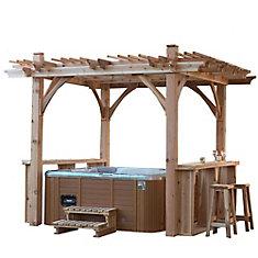 Pergola pour spa Breeze avec bar - 11 pieds x 9 pieds