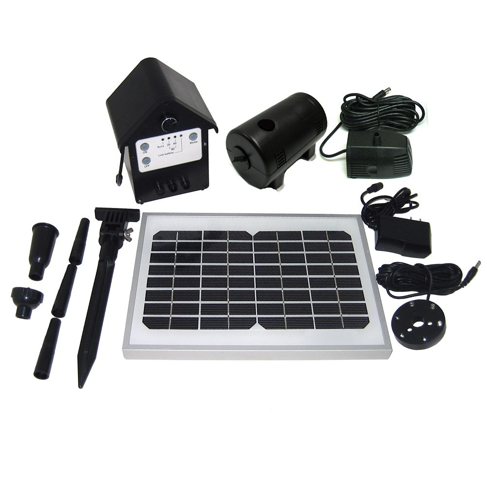 Sensible Solar 135 Gph Solar Hybrid Fountain Pond Pump