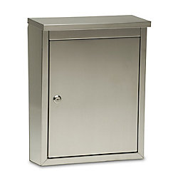 Architectural Mailboxes Metropolis Locking Wall Mount Mailbox Satin Finish