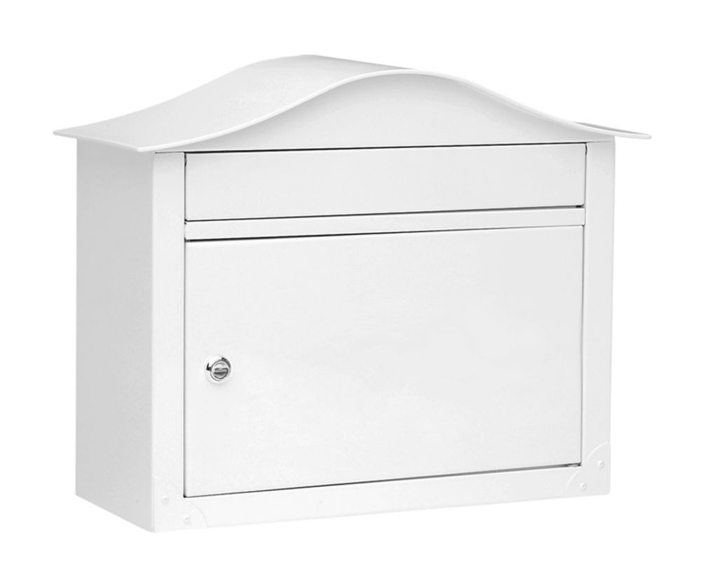 Lunada Locking Wall Mount Mailbox White