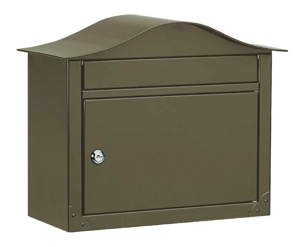 Lunada Locking Wall Mount Mailbox Bronze