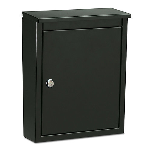 Soho Locking Wall Mount Mailbox Black