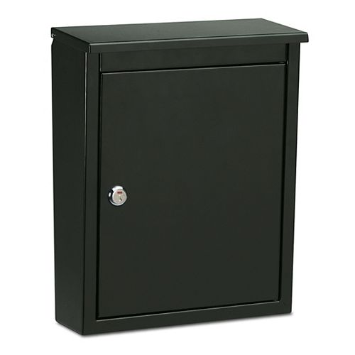 Architectural Mailboxes Soho Locking Wall Mount Mailbox Black