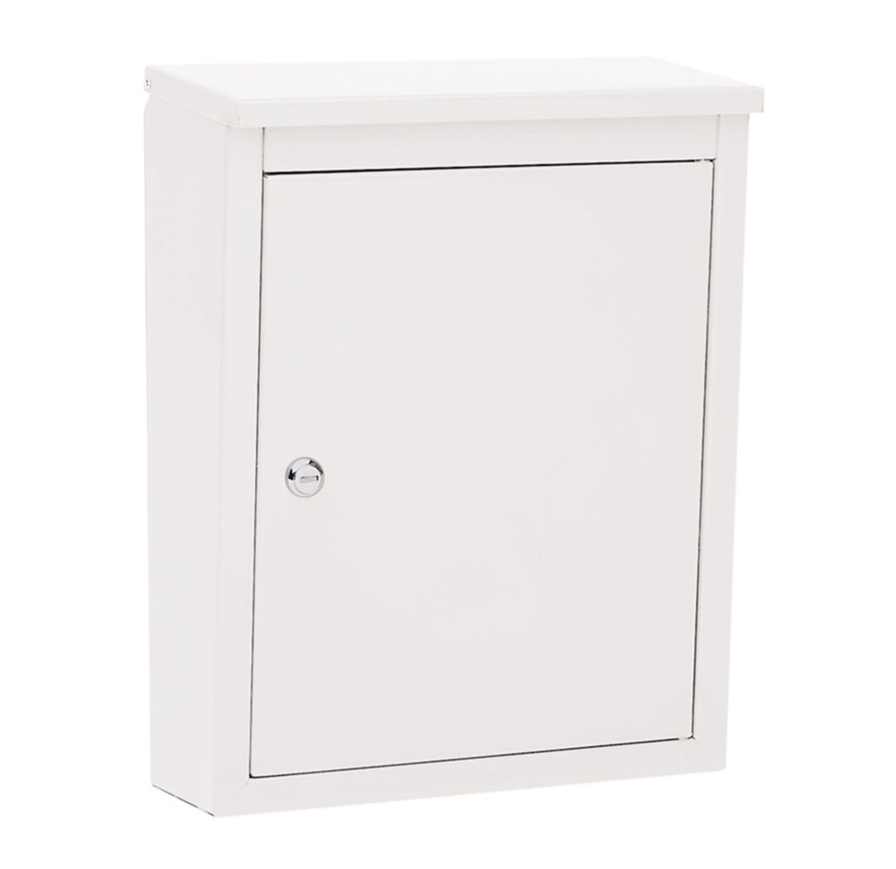 Soho Locking Wall Mount Mailbox White