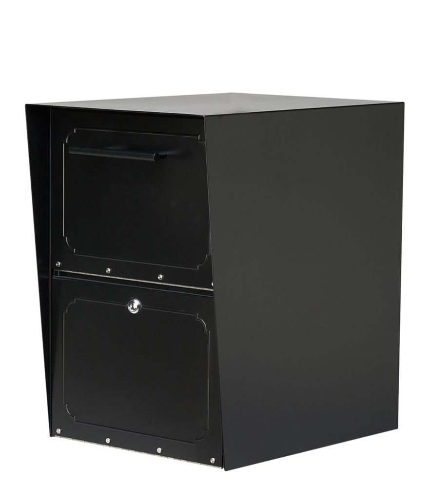 Architectural Mailboxes Oasis Post Mount Locking Drop Box Black