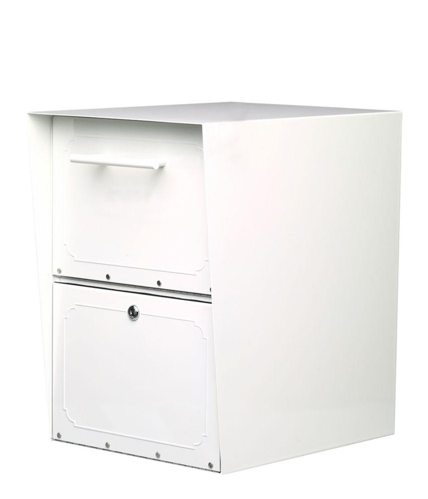 Oasis Post Mount Locking Drop Box White
