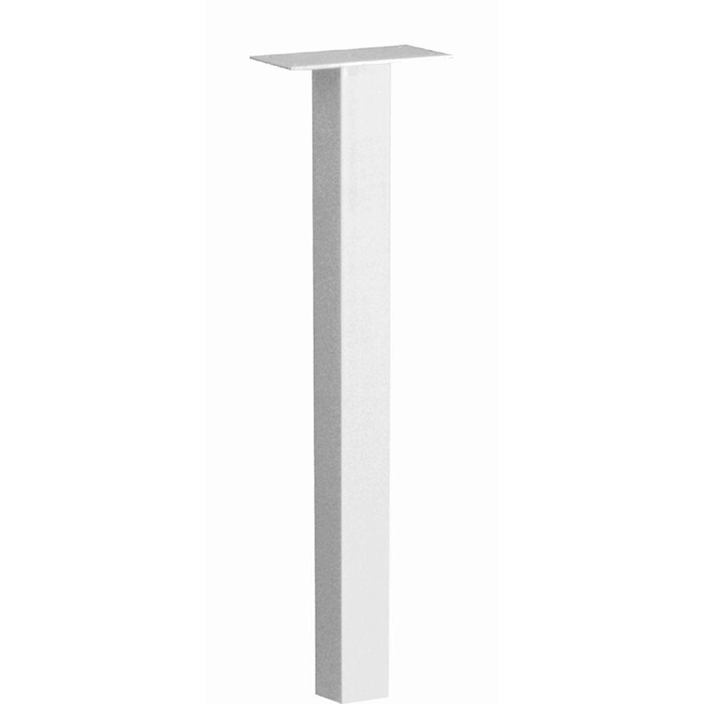 Standard In-ground Post White