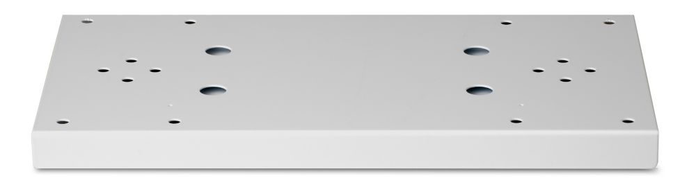 Plaque d'appui double gris perle