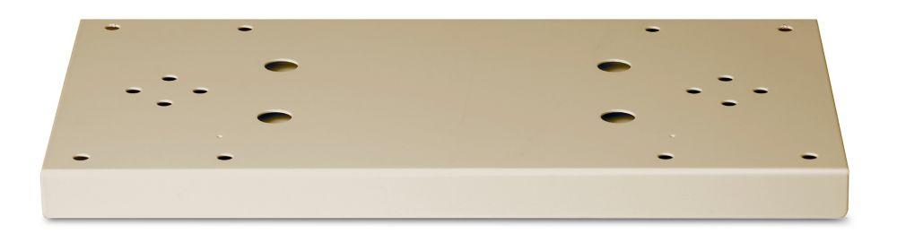 Plaque d'appui double de couleur sable