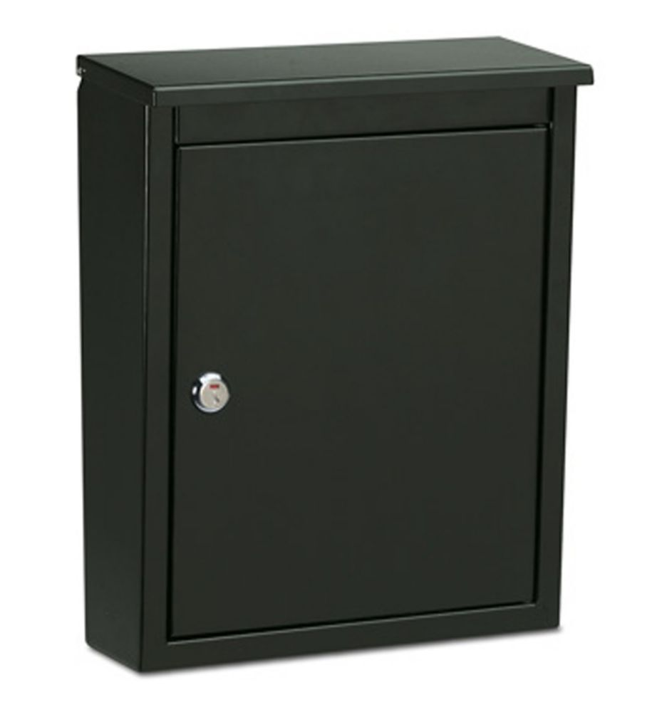 Chelsea Locking Wall Mount Mailbox Black