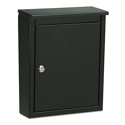Chelsea Locking Wall Mount Mailbox in Black