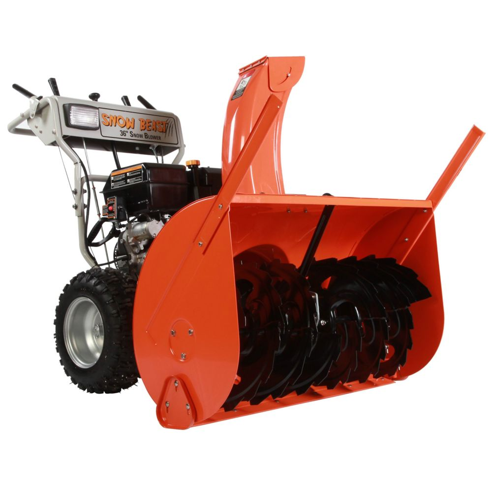 15-HP 2-Stage Commercial Gas Snow Blower with 36-inch Clearing Width