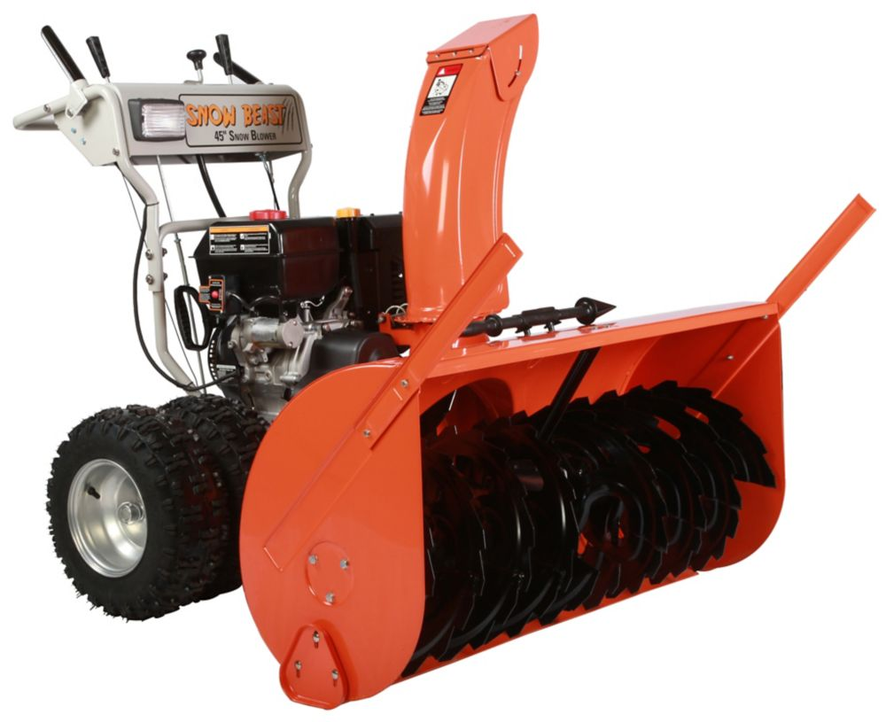 Beast 15 Hp 2 Stage Commercial Gas Snow Blower With 45