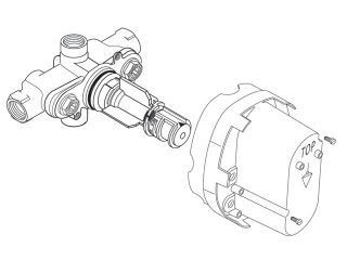Ceratherm Rough Valve Body with 1/2 NPT Inlets/Outlets, 9.5 GPM at 40 PSI