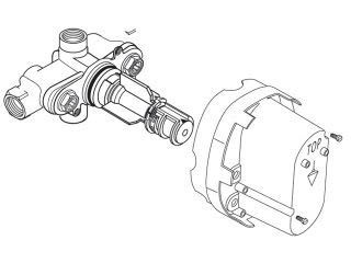 Ceratherm Rough Valve Body with 3/4 NPT Inlets/Outlets, 16 GPM at 40 PSI