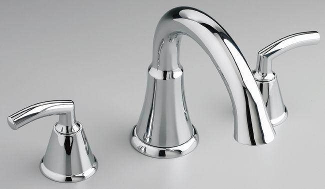 Tropic Deck-Mount Bath Faucet in Satin Nickel
