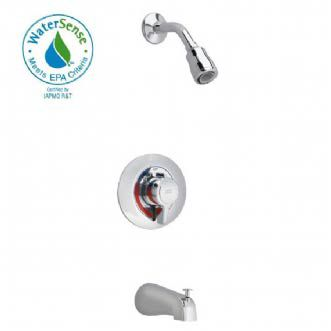 Colony Bath/Shower Faucet with Flo-Wise Water Saving Showerhead in Polished Chrome