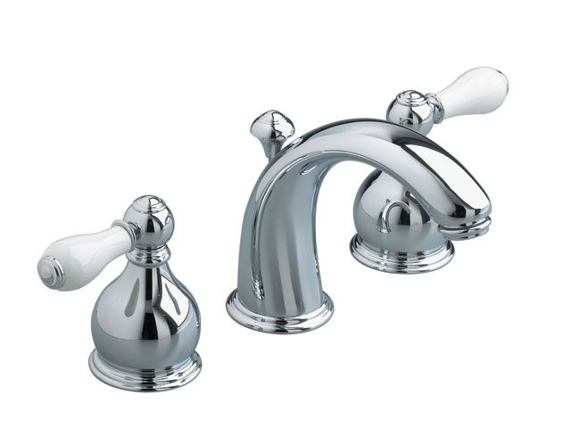 Williamsburg 8 Inch Widespread 2 Handle Mid Arc Bathroom Faucet In Polished Chrome