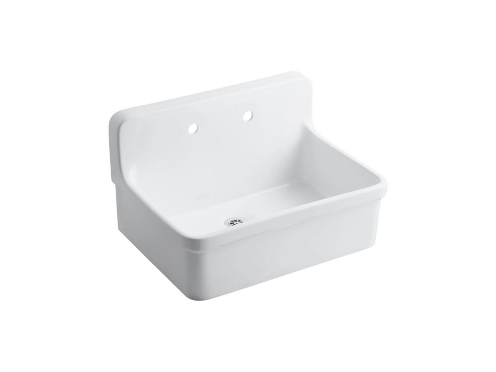 Gilford Scrub-Up/Plaster Sink in White