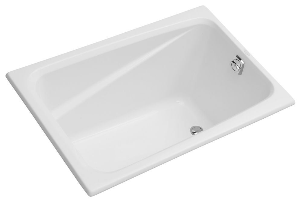 Greek 4 Feet Acrylic Bathtub in White