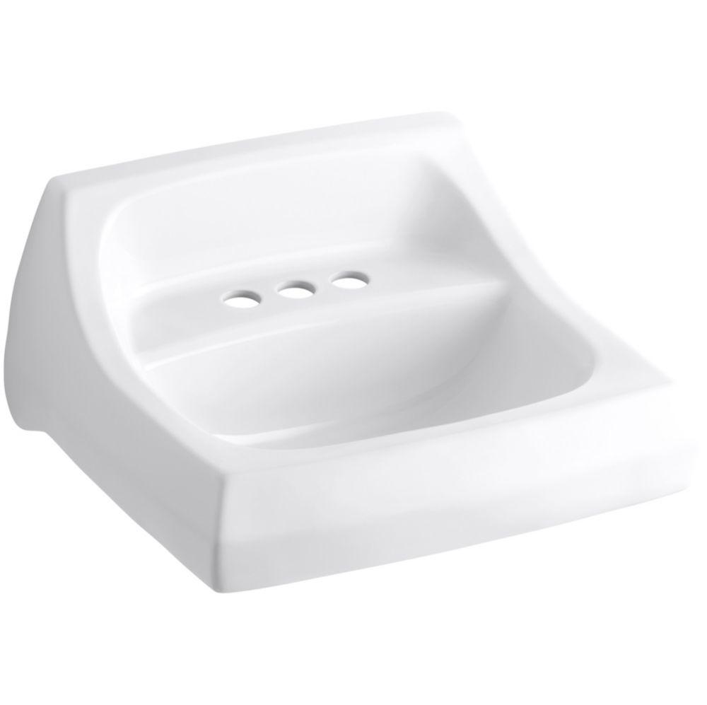 Kingston Wall-Mount Bathroom Sink in White