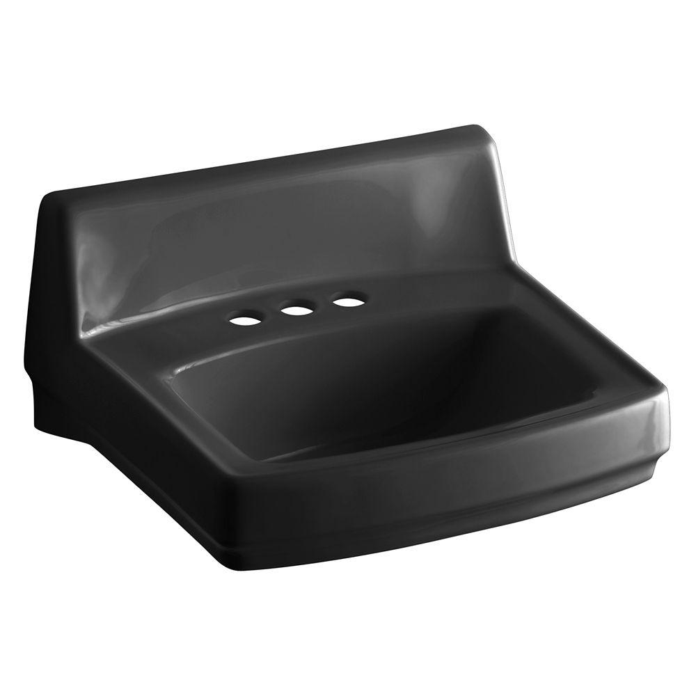 Greenwich Wall-Mount Bathroom Sink in Black Black