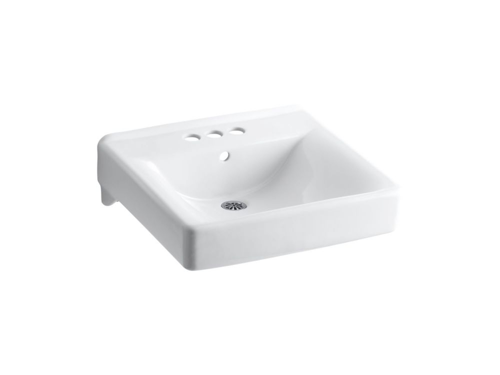 Kohler Soho Wall Mount Bathroom Sink In White The Home Depot Canada