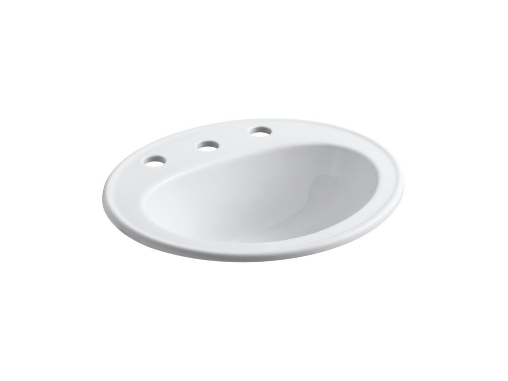 Pennington Self-Rimming Lavatory in White K-2196-8-0 in Canada