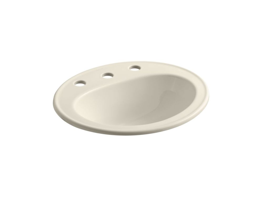 Pennington Self-Rimming Bathroom Sink in Almond
