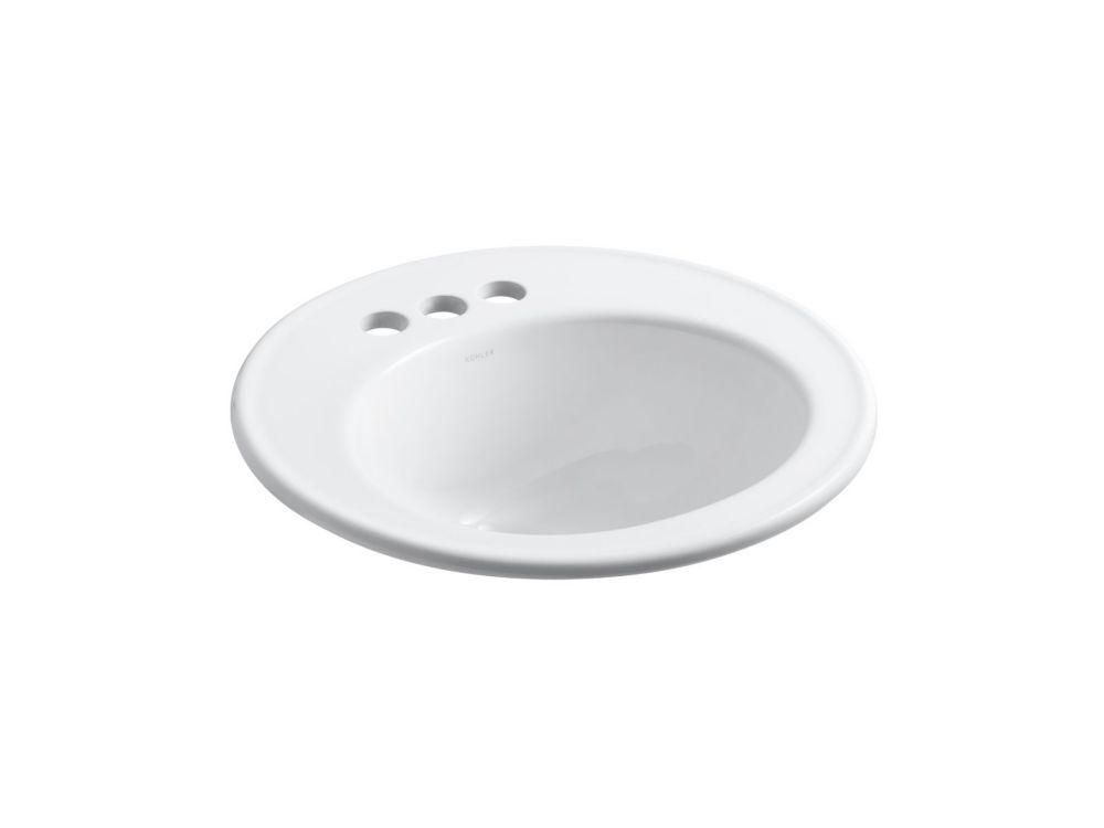 Brookline Self-Rimming Bathroom Sink in White
