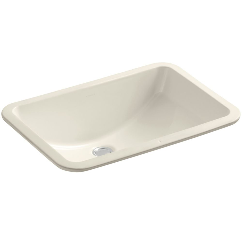 Ladena 20 7/8-inch L x 14 3/8-inch W Undercounter Bathroom Sink in Almond