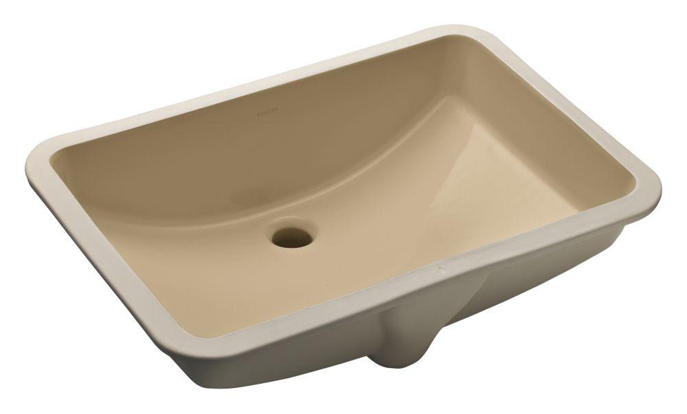 Ladena 23 1/4-inch L x 16 1/4-inch W Undercounter Bathroom Sink in Mexican Sand