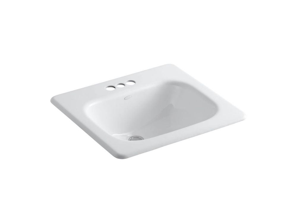 Tahoe Self-Rimming Lavatory in White K-2895-4-0 Canada Discount