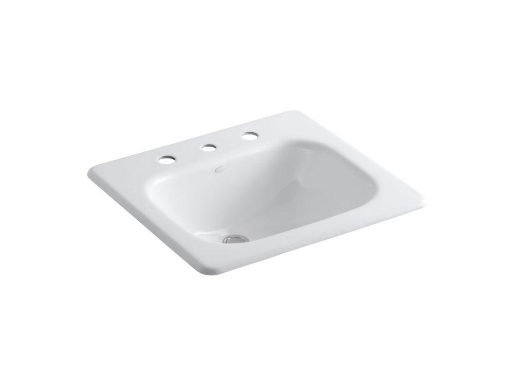 Tahoe Self-Rimming Bathroom Sink in White