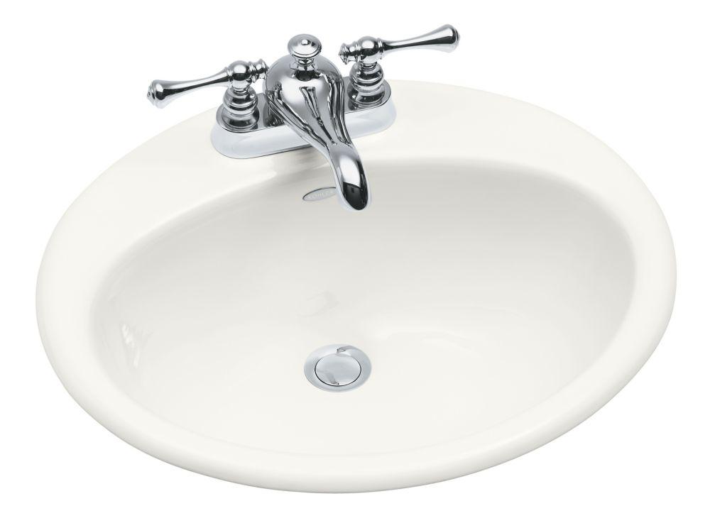 Farmington Self-Rimming Bathroom Sink in White
