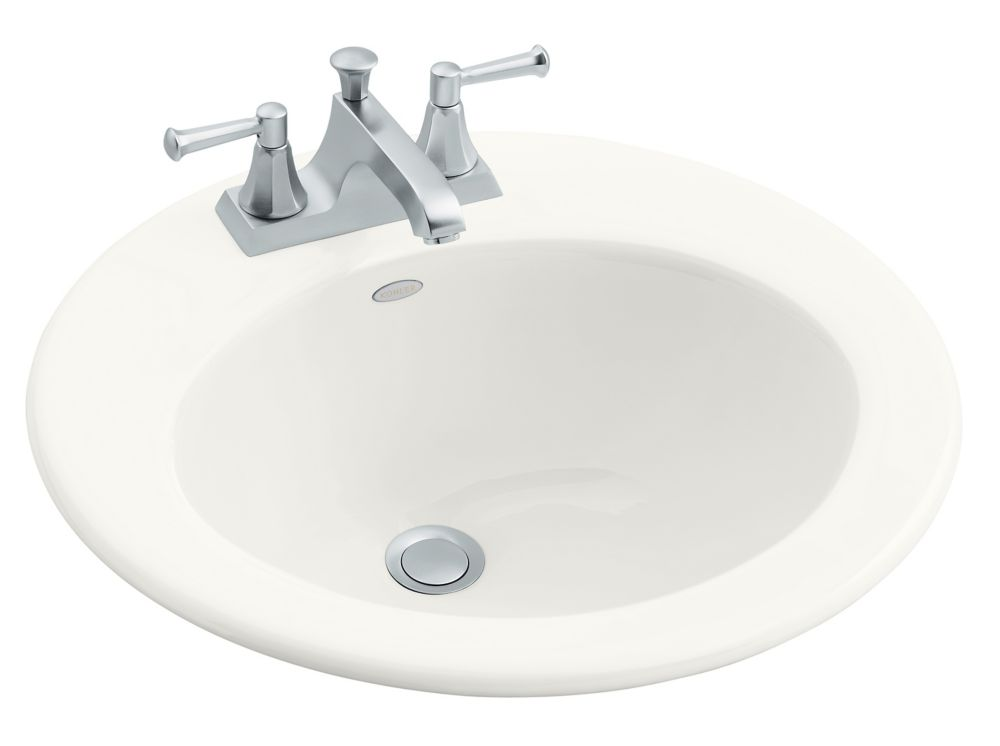 Radiant Self-Rimming Lavatory in White K-2917-4-0 in Canada