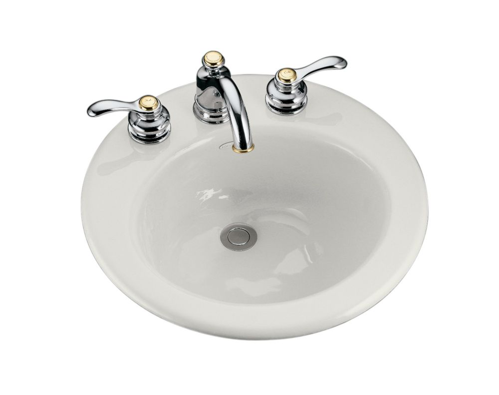 Radiant Self-Rimming Bathroom Sink in White
