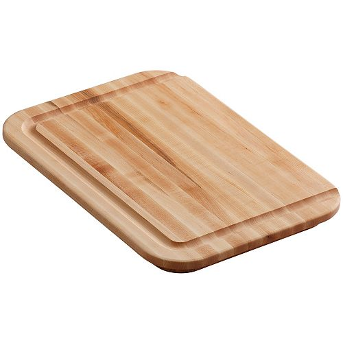 KOHLER Hardwood Cutting Board, Fits 15-3/4 Inch Front-To-Back Basin