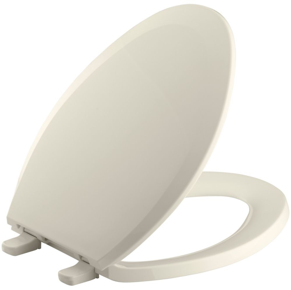 Lustra� Elongated Closed Front Toilet Seat in Almond