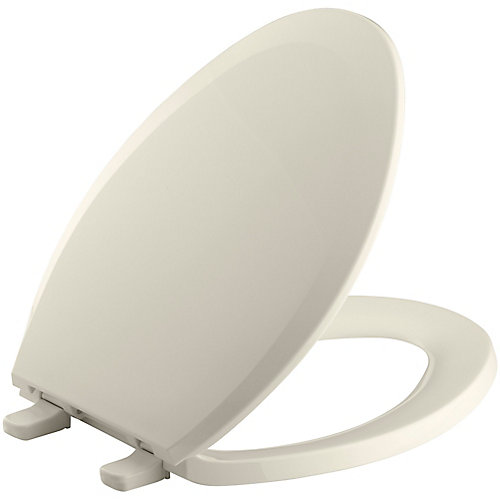 Lustra Elongated Closed Front Toilet Seat in Almond