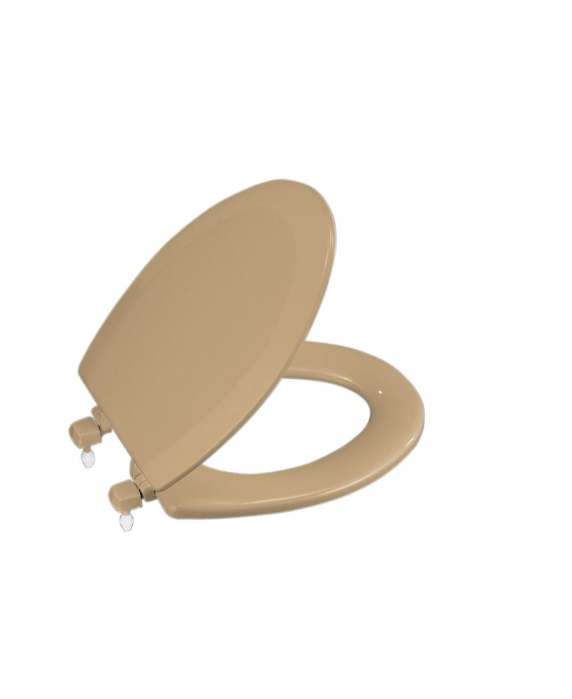 Triko Elongated Closed Front Toilet Seat in Mexican Sand