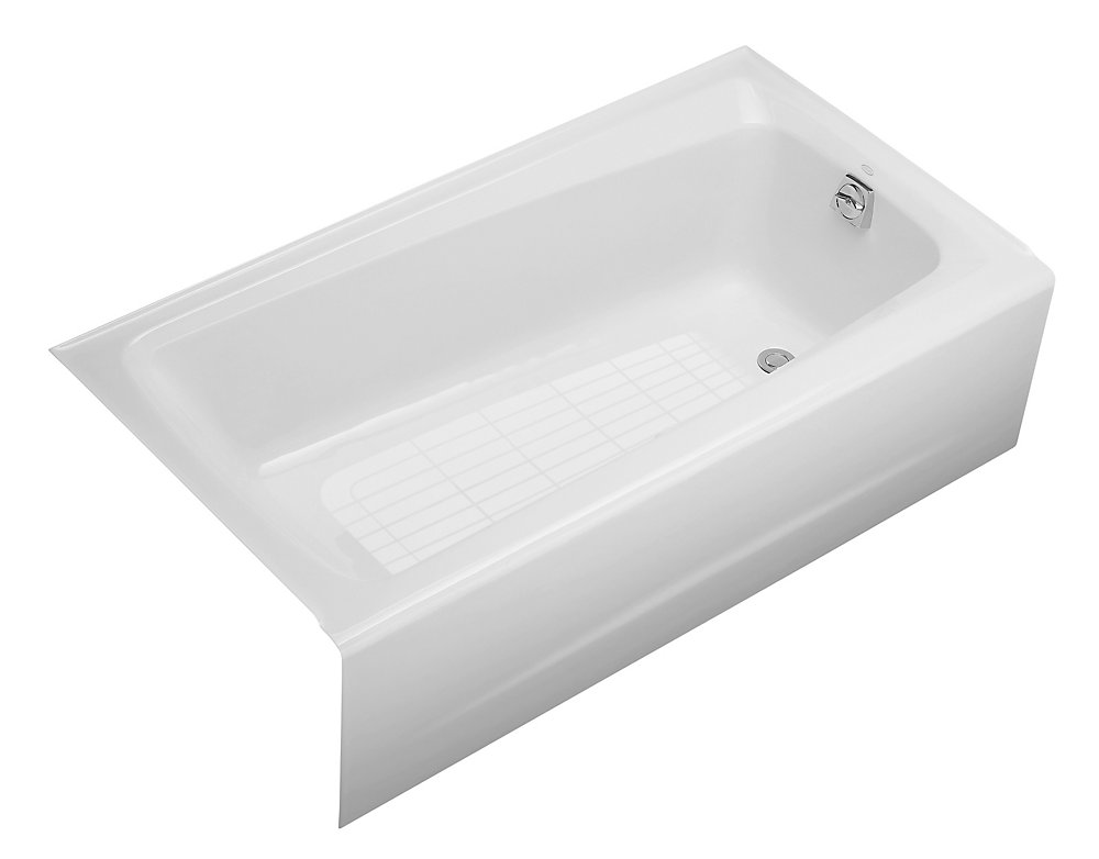 "Mendota(R) 60"" x 32"" alcove bath with integral apron and right-hand drain"