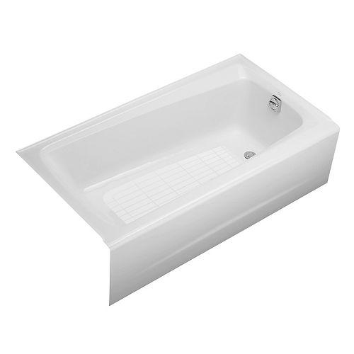 "KOHLER Mendota(R) 60"" x 32"" alcove bath with integral apron and right-hand drain"