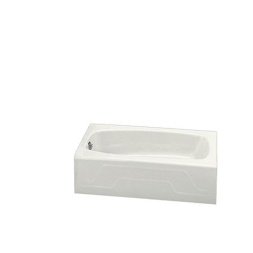"KOHLER Dynametric(R) 60"" x 32"" alcove bath with left-hand drain"