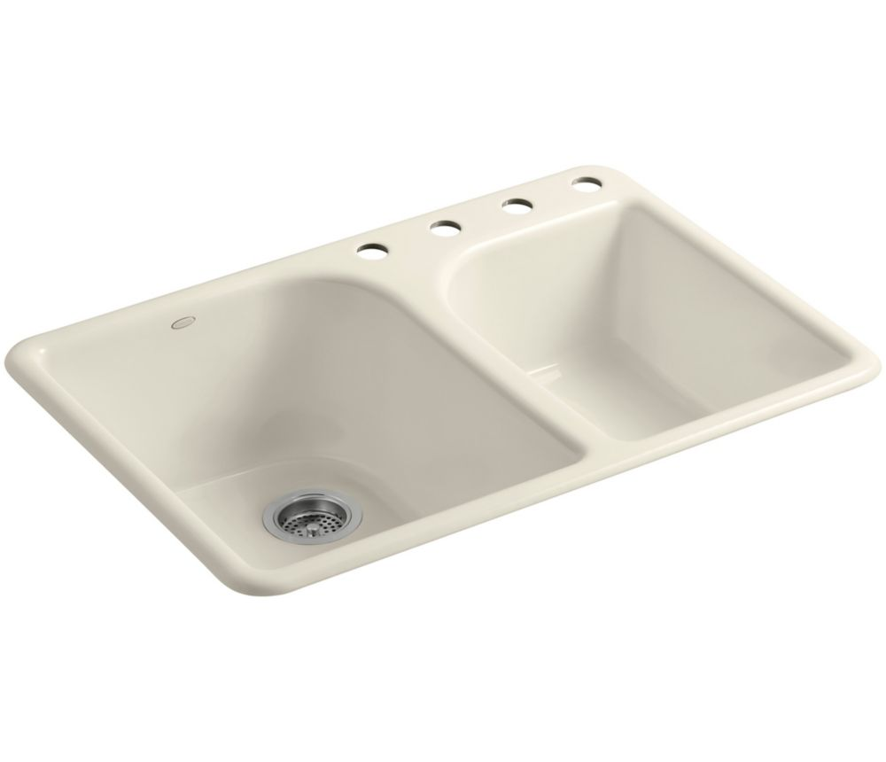 Executive Chef(Tm) Self-Rimming Kitchen Sink in Almond