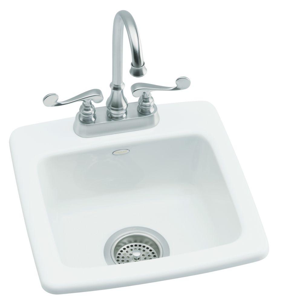 Évier de récréation à rebord intégré Gimlet(TM) avec forage d piorifice unique pour robinet