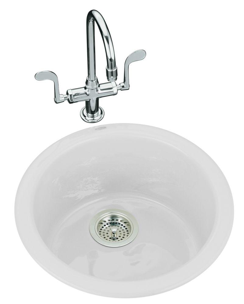 Porto Fino(Tm) Self-Rimming/ Undercounter Entertainment Sink in White